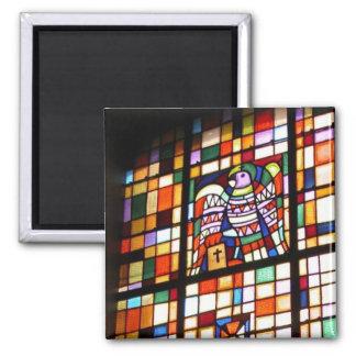 Stained glass, symbol of gospel writer magnet