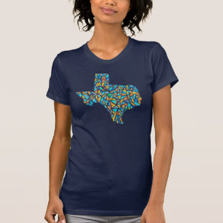 Stained Glass Texas Watercolor Customizable Tee
