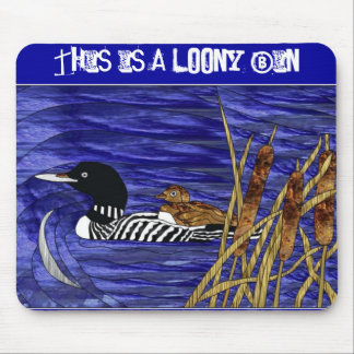 Stained Glass - This is a Loony Bin Mouse Mat