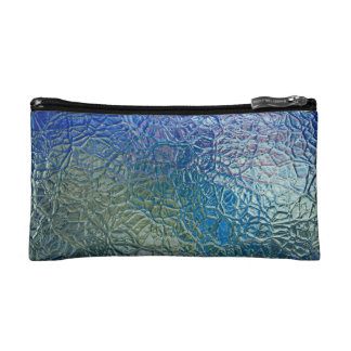 Stained glass, transparent colorful shiny window makeup bag