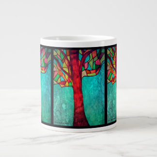 Stained Glass Tree design Large Coffee Mug
