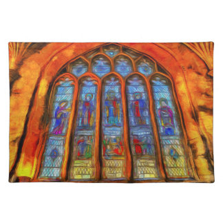 Stained Glass Van Gogh Placemat