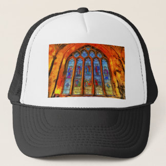 Stained Glass Van Gogh Trucker Hat