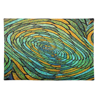 Stained Glass Vortex Placemat