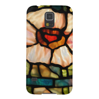 stained glass white poppy galaxy s5 cover