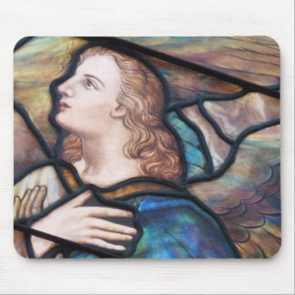 Stained Glass Window Angel Mousepad