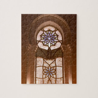 Stained glass window at the Sheikh Zayed mosque Jigsaw Puzzle