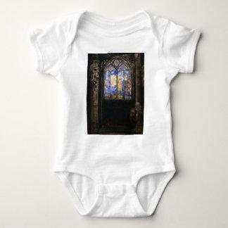 Stained Glass Window by Odilon Redon Baby Bodysuit