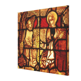 Stained glass window depicting the Annunciation, G Canvas Print