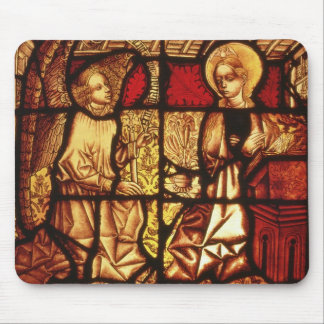 Stained glass window depicting the Annunciation, G Mouse Pad