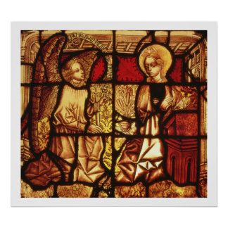 Stained glass window depicting the Annunciation, G Poster
