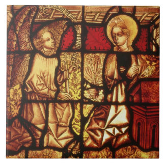 Stained glass window depicting the Annunciation, G Tile