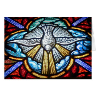 Stained Glass Window Dove Blank Greeting Card