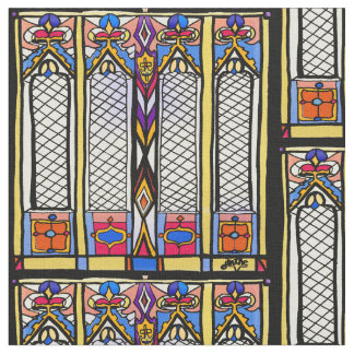 Stained Glass Window Fabric