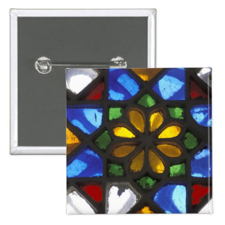 Stained glass window inside the National 15 Cm Square Badge