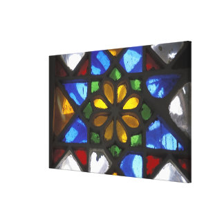 Stained glass window inside the National Canvas Print
