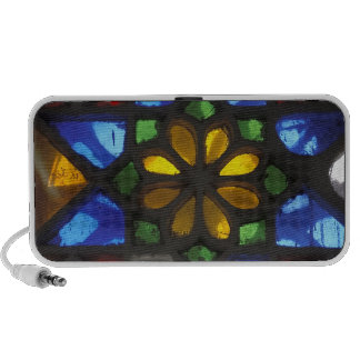 Stained glass window inside the National iPhone Speaker