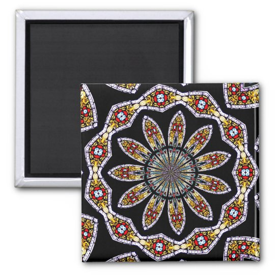Stained Glass Window Kaleidoscope #1 Magnet