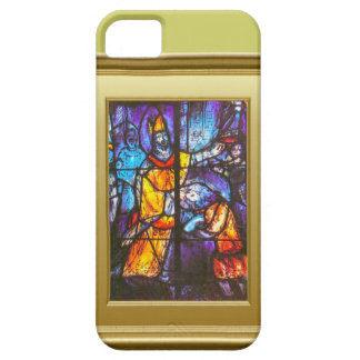 Stained glass window, knight on horseback iPhone 5 cases