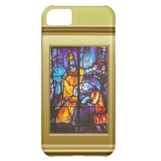 Stained glass window, knight on horseback iPhone 5C case