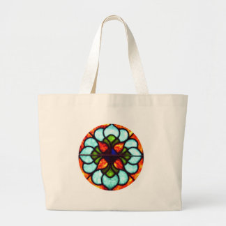 Stained Glass Window Large Tote Bag