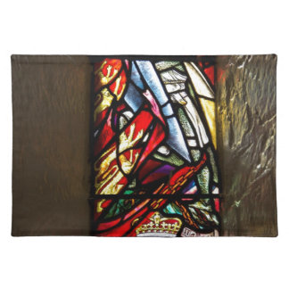 Stained glass window of William Walace in Edinburg Place Mat