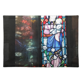 Stained glass window place mats