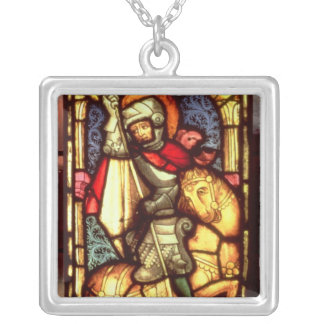 Stained Glass Window Silver Plated Necklace