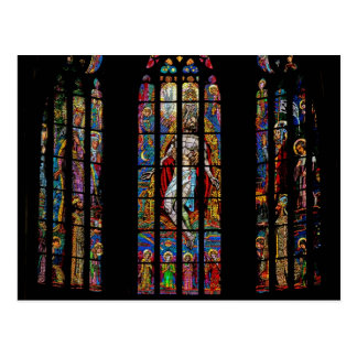 Stained Glass Window, St Vitus's Cathedral,Prague Postcard