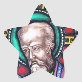 Stained glass window, The prophet Jeremiah Star Sticker
