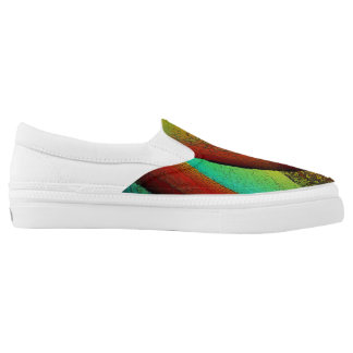 Stained Glass Window - Unisex Slip On's Printed Shoes