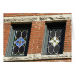 Stained glass windows card