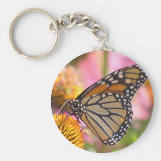 Stained Glass Wings Basic Round Button Key Ring