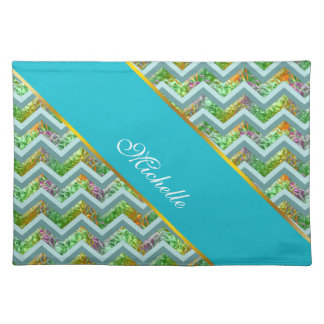 Stained Glass ZigZag Place Mats
