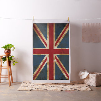 Stained Grunge Union Jack UK Flag Fabric