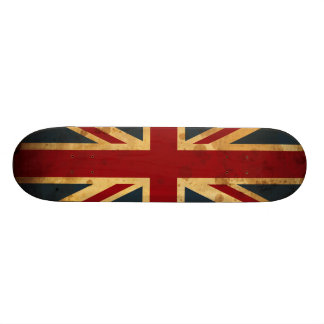 Stained Union Jack UK Flag 18.1 Cm Old School Skateboard Deck