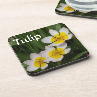 Stained Yellow Tulips Drink Coasters