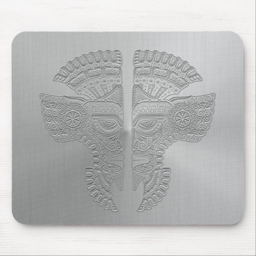 Stainless Steel Aztec Twins Mousepad