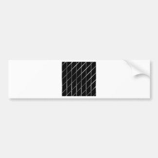 stainless steel background bumper sticker