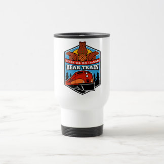 Stainless Steel Bear Train Travel mug 15oz