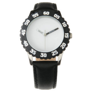 Stainless Steel Black Watch, Adjustable Bezel Watch