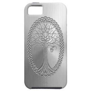 Stainless Steel Effect Celtic Tree Graphic Tough iPhone 5 Case