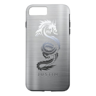 Stainless Steel Effect Dragon iPhone 8 Plus/7 Plus Case