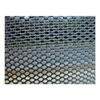 Stainless steel grille posters