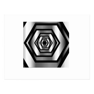 Stainless steel hexagon postcard