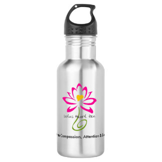 Stainless Steel Lotus Heart Zen Water Bottle