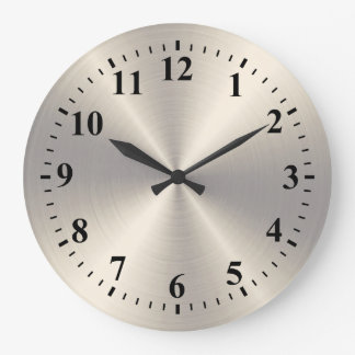 Stainless Steel Metal Large Clock
