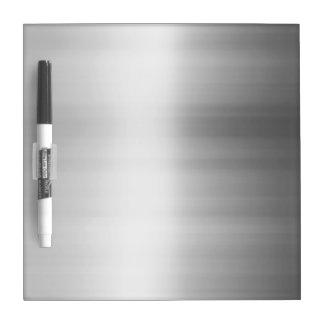 Stainless Steel Metal Look Dry-Erase Board