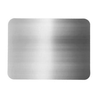 Stainless Steel Metal Look Rectangular Photo Magnet