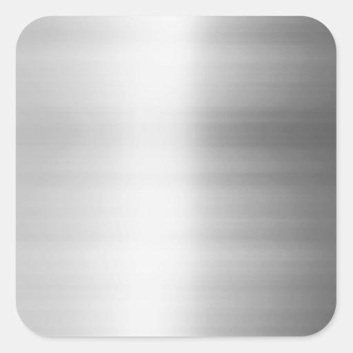 Stainless Steel Metal Look Sticker